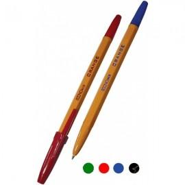 Ручка шариковая ECONOMIX ORANGE/зеленая