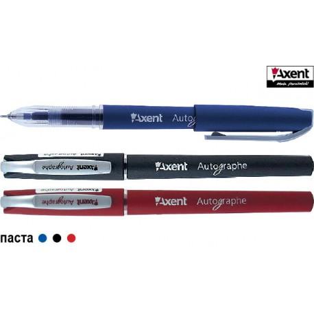 Ручка гелевая AXENT Autographe/красная