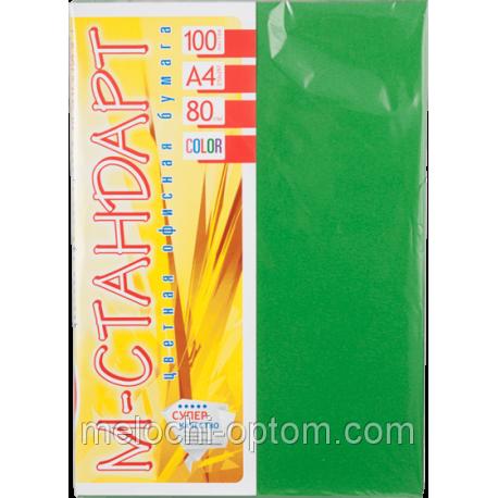 Папір кольоровий насищений М-Стандарт/зелена/100л./80г/м
