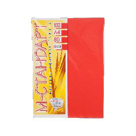 Папір кольоровий насичений М-Стандарт/червоний/100ар./80г/м