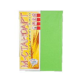 Папір кольоровий насичений М-Стандарт/салатовий/100ар./80г/м