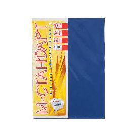Папір кольоровий насичений М-Стандарт/синій/100л./80г/м