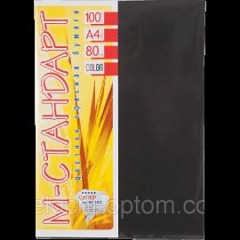Папір кольоровий насичений М-Стандарт/чорний/100ар./80г/м