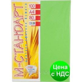 Папір кольоровий неон зелений/100ар./80г/м