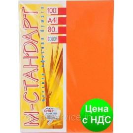 Папір кольоровий неон помаранчевий/100ар./80г/м