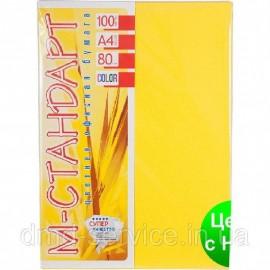 Папір кольоровий пастель жовтий/100ар./80г/м