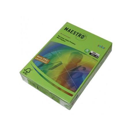 Картон кольоровий св.зелений 160г/м/А-4/250ар.