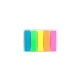 Флажки-закладинки прямокутні 5 кольорів*25 шт.неон