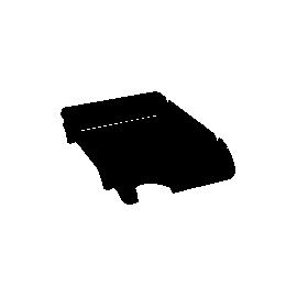 Лоток горизонтальний /чорн/Компакт