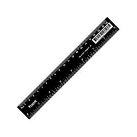 Лінійка /20см/чорна