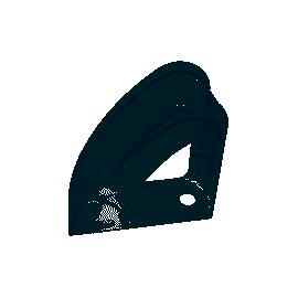 Лоток вертикальний/прозорий/зі стінкою/Радуга