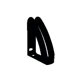 Лоток вертикальний/сірий/зі стінкою/Радуга
