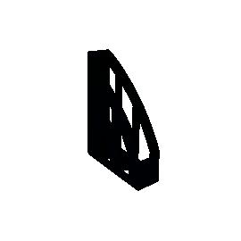 Лоток вертикальний/черний/ECONOMIX