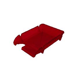 Лоток горизонтальний/червоний/Компакт
