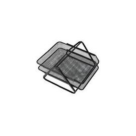 Лоток горизонтальний/метал/чорний/сітка подвійний/О36308