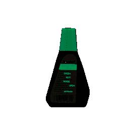Краска штемпельна /28мл/зелена/7011