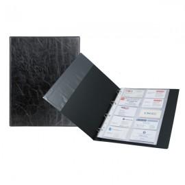 Візитниця на кільцях AXENT/2504-01, А4 (200 віз.) чорна