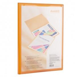 Дисплей-книга/AXENT/ з кишенею, А4, 20 файлів, прозора