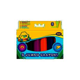 Крейда воскова Jumbo, 8 кольорів HK