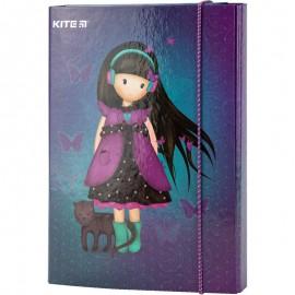Папка для зошитів В5 на гумці картон, Kite, Charming