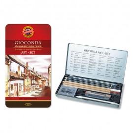 Набір художній GIOCONDA 8890, 10 предметів,мет.уп.