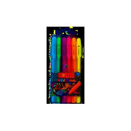 Ручка гелеваTrigel Neon/набір 6 кол./асорті/Unimax/UX-143