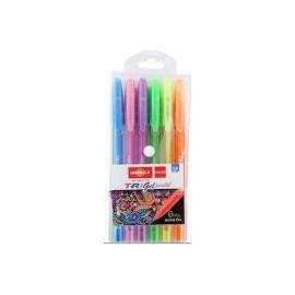 Ручка гелеваTrigel Pastel/набір 6 кол./асорті/Unimax/UX-144
