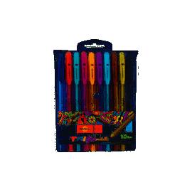 Ручка гелева Trigel-3/ набір 10 кол.асорті/Unimax/UX-131