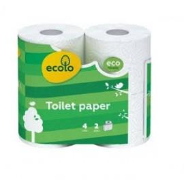 """Туалетний папір """"Еcolo"""" 2-шаровий  целюлозний на гільзі,"""