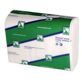Рушник папер. 2-шаровий Z  целюлозний білий 22х22,5см 160л (20шт)  арт.RN010