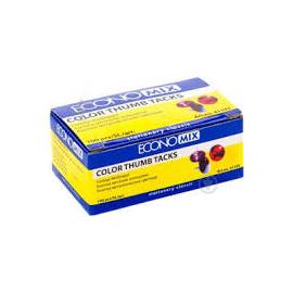 Кнопки неонові/таблетки/100 шт./ECONOMIX